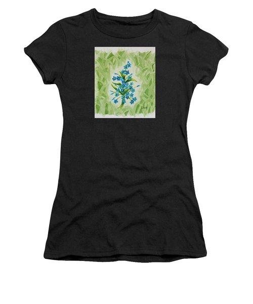 For-get-me-nots Women's T-Shirt (Athletic Fit)