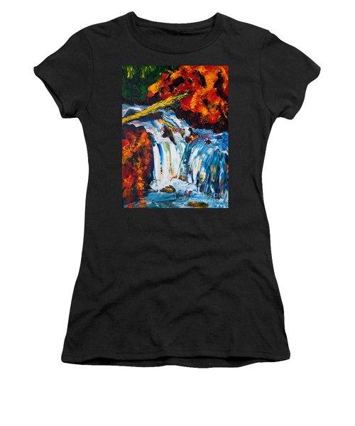 Log And Waterfall Women's T-Shirt