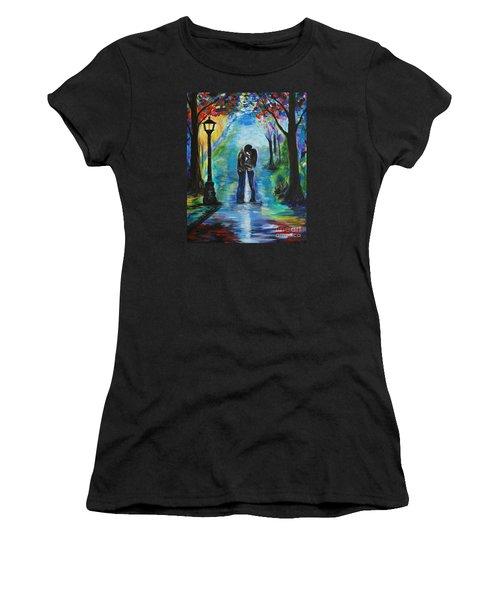 Moonlight Kiss Women's T-Shirt (Junior Cut) by Leslie Allen