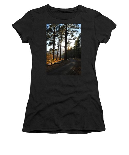 Mountain Road Women's T-Shirt (Athletic Fit)