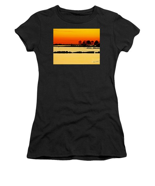 Ocean Beach Sunset Women's T-Shirt (Athletic Fit)