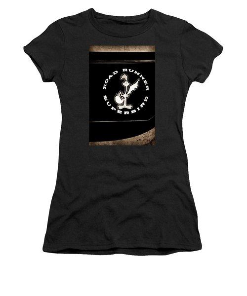Road Runner Superbird Emblem Women's T-Shirt (Athletic Fit)