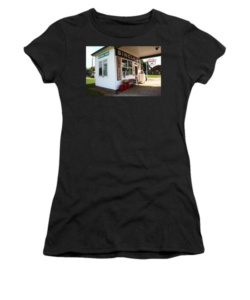 Route 66 Filling Station Women's T-Shirt (Athletic Fit)