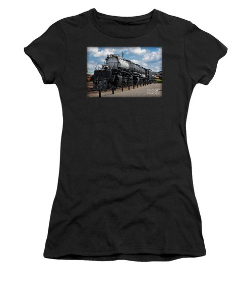 Women's T-Shirt featuring the photograph 4-8-8-4 Big Boy Locomotive by Gary Keesler