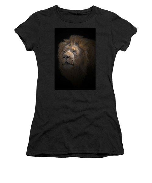 Women's T-Shirt (Junior Cut) featuring the photograph African Lion by Peter Lakomy