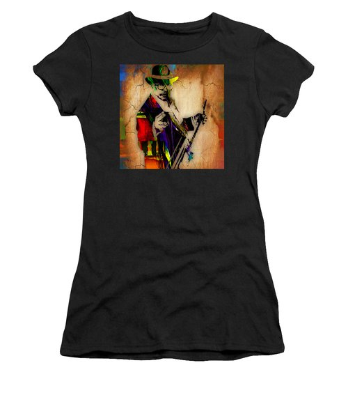 Bo Diddley Collection Women's T-Shirt (Junior Cut) by Marvin Blaine