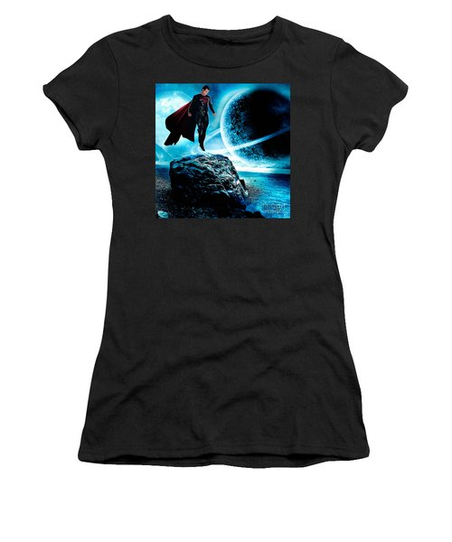 Superman Women's T-Shirt (Junior Cut) by Marvin Blaine