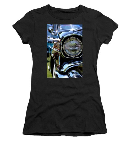 Women's T-Shirt (Junior Cut) featuring the photograph 50's Chevy by Dean Ferreira