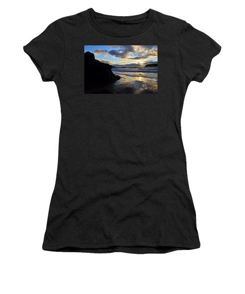 Women's T-Shirt (Junior Cut) featuring the photograph Beenbane Beach by Barbara Walsh