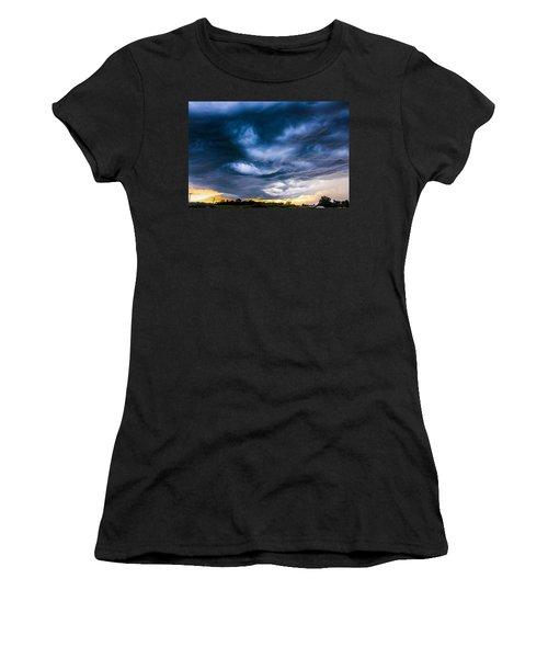Late Afternoon Nebraska Thunderstorms Women's T-Shirt