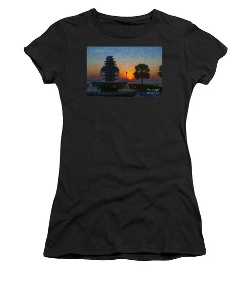 Pineapple Fountain At Dawn Women's T-Shirt