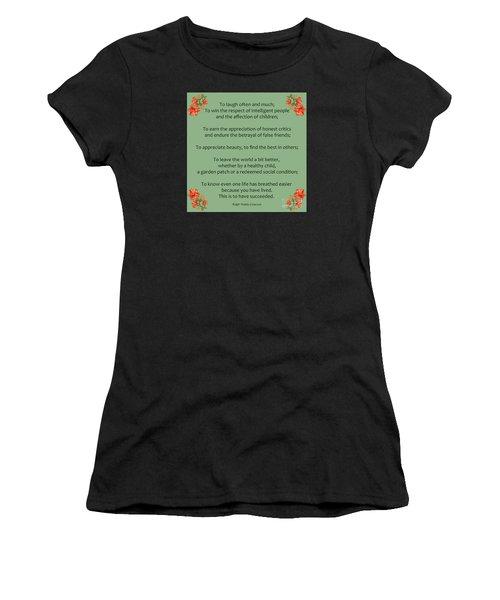 75- Ralph Waldo Emerson Women's T-Shirt (Athletic Fit)