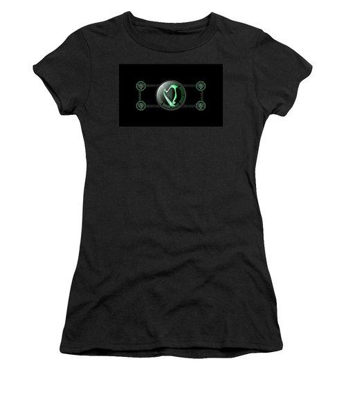 Celtic Harp Women's T-Shirt (Athletic Fit)
