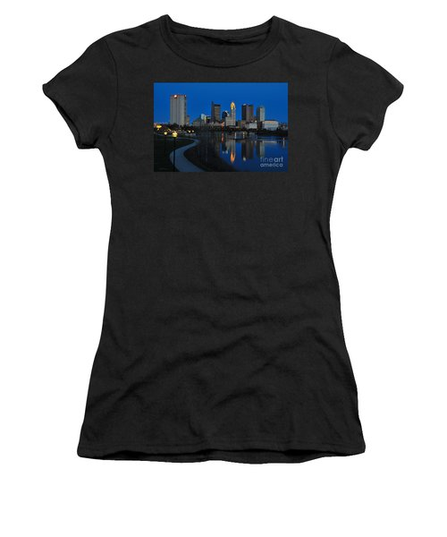 Columbus Ohio Skyline At Night Women's T-Shirt