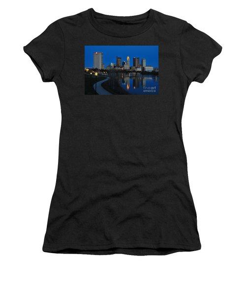 Columbus Ohio Skyline At Night Women's T-Shirt