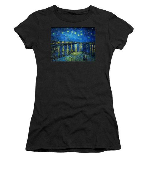 Starry Night Over The Rhone Women's T-Shirt