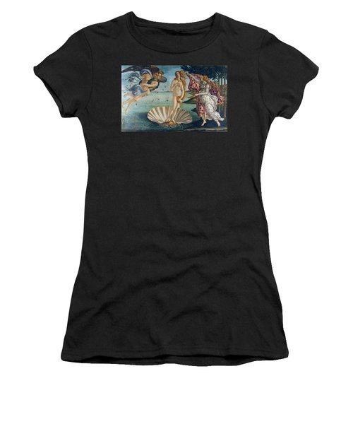 The Birth Of Venus Women's T-Shirt (Junior Cut) by Sandro Botticelli