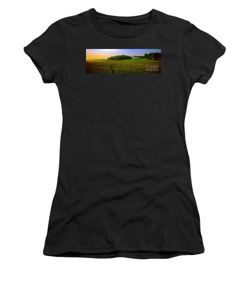 Conley Rd Spring Pasture Oaks And Barn  Women's T-Shirt (Athletic Fit)