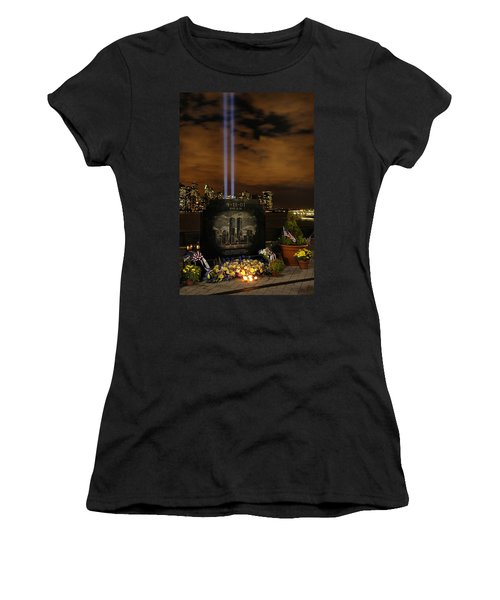 9-11 Monument Women's T-Shirt (Junior Cut) by Dave Mills