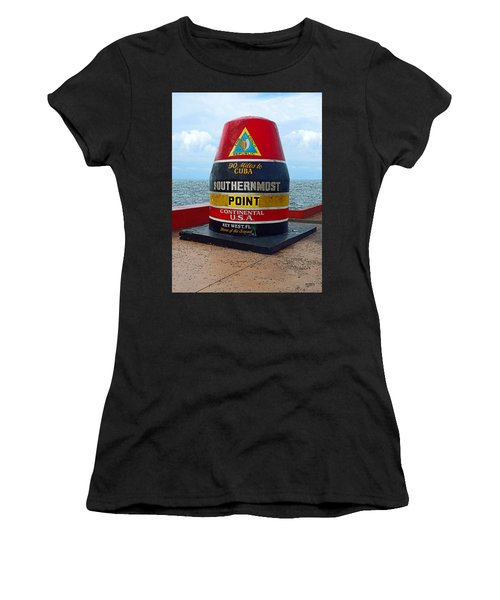 Southernmost Point Key West - 90 Miles To Cuba Women's T-Shirt (Athletic Fit)