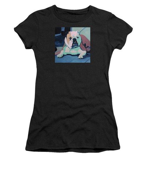 A Bulldog In Love Women's T-Shirt