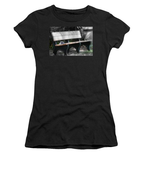 Women's T-Shirt (Junior Cut) featuring the photograph A Child Somewhere In My Dreams by DigiArt Diaries by Vicky B Fuller