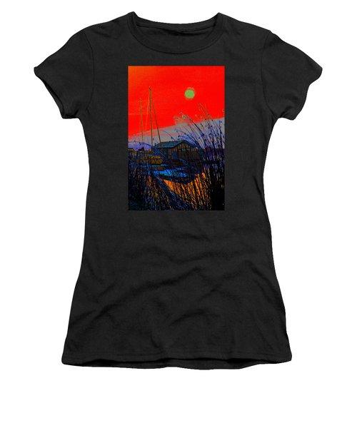 A Digital Marina Sunset Women's T-Shirt