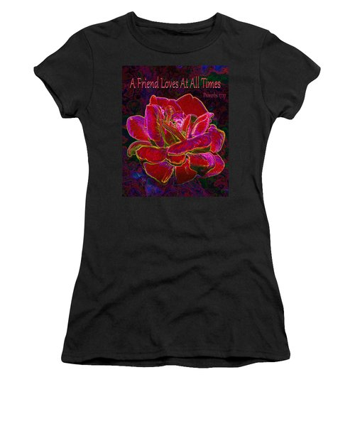 A Friend Loves At All Times Women's T-Shirt (Athletic Fit)
