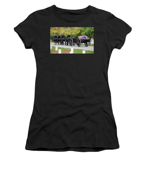 Women's T-Shirt (Junior Cut) featuring the photograph A Funeral In Arlington by Cora Wandel