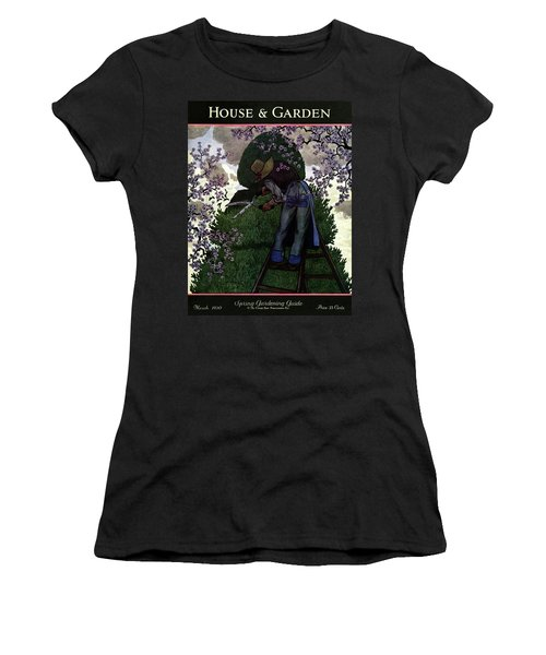 A Gardener Pruning A Tree Women's T-Shirt