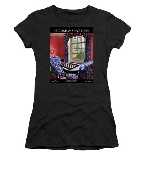 A House And Garden Cover Of A Country Living Room Women's T-Shirt
