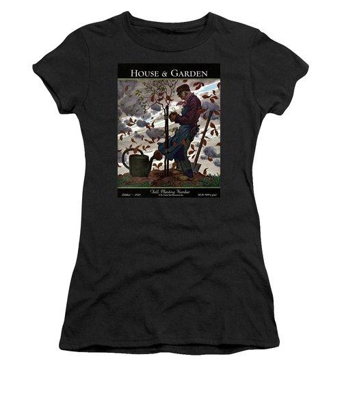 A House And Garden Cover Of A Gardener Women's T-Shirt