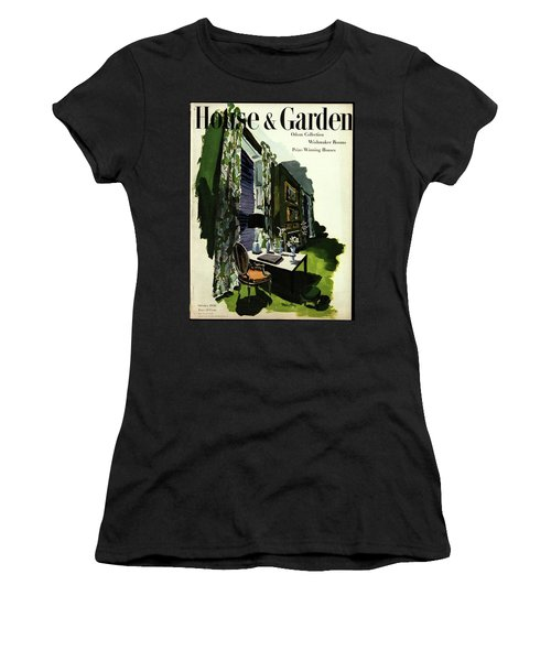 A House And Garden Cover Of A Living Room Women's T-Shirt