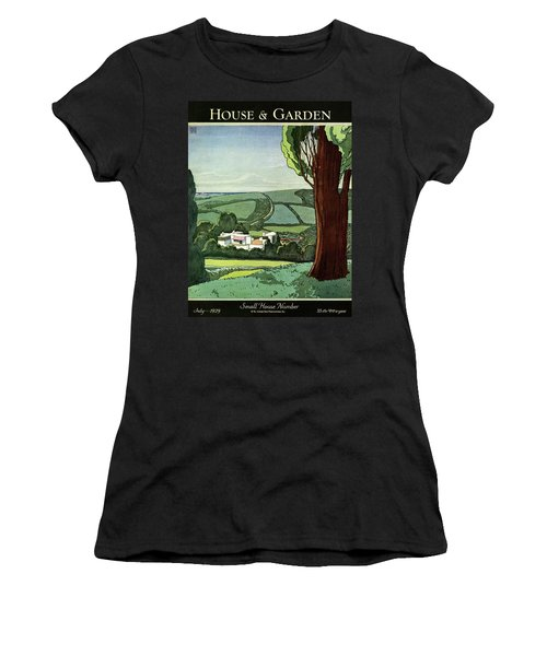 A House And Garden Cover Of A Rural Scene Women's T-Shirt
