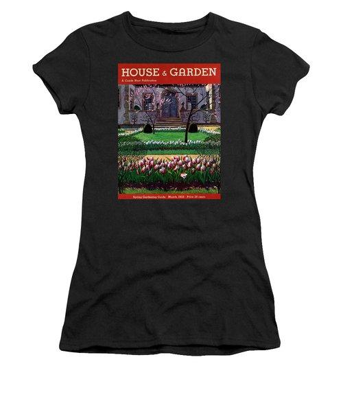 A House And Garden Cover Of A Tulip Garden Women's T-Shirt