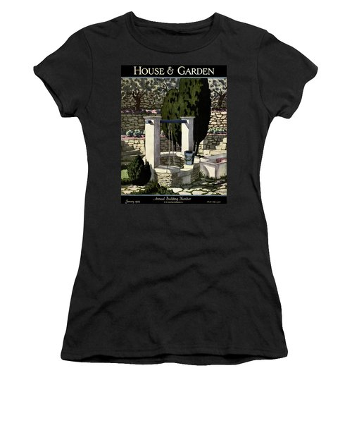 A House And Garden Cover Of A Well Women's T-Shirt