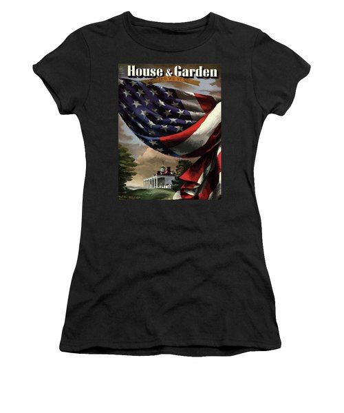 A House And Garden Cover Of An American Flag Women's T-Shirt