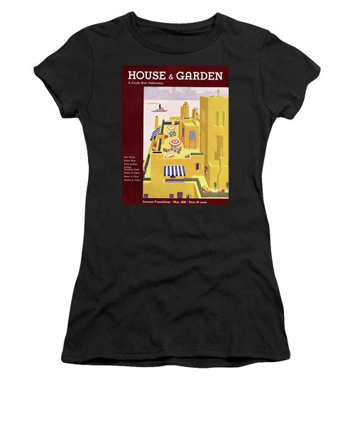 A House And Garden Cover Of An Apartment Building Women's T-Shirt