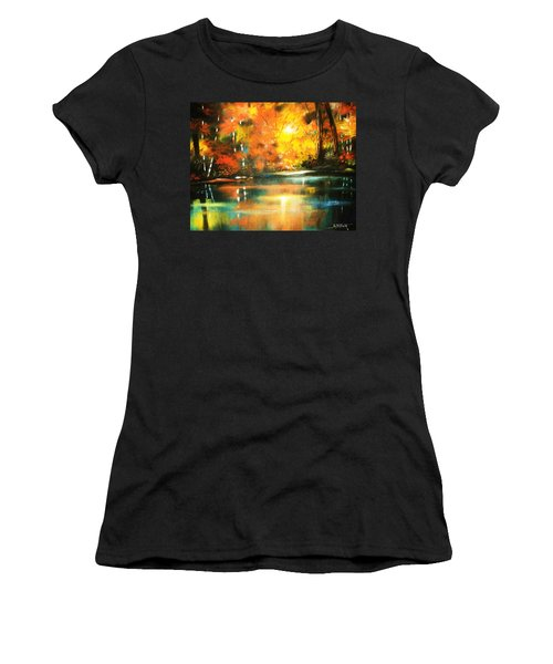 A Light In The Forest Women's T-Shirt (Junior Cut) by Al Brown