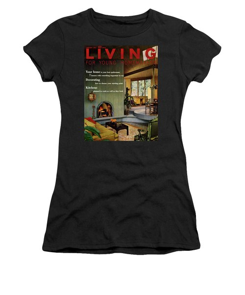 A Living Room With Sherwin-williams Wood-paneling Women's T-Shirt