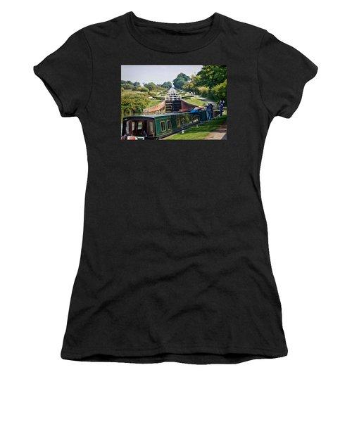 Women's T-Shirt featuring the photograph A Long Climb by Paul Gulliver