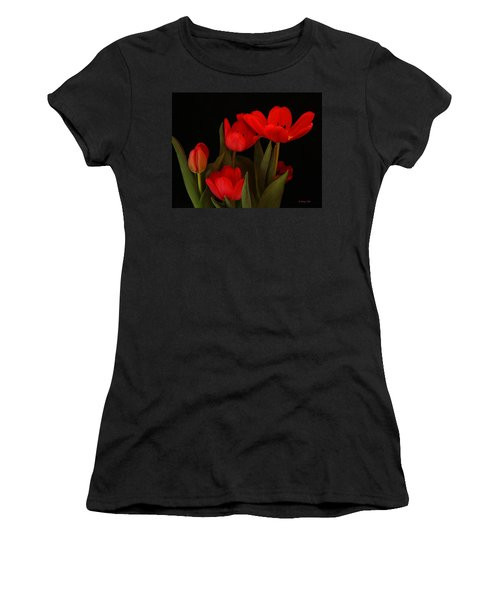 A Red Tulip Day Women's T-Shirt (Athletic Fit)