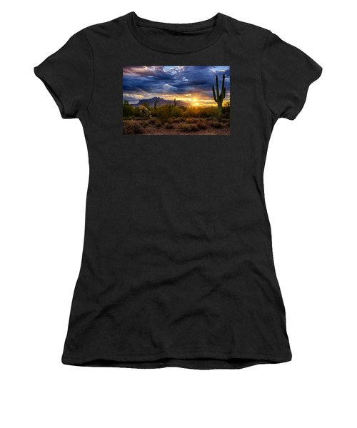A Sonoran Desert Sunrise Women's T-Shirt