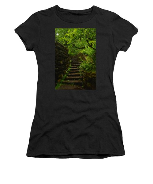 A Stairway To The Green Women's T-Shirt (Athletic Fit)