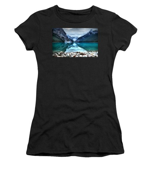 A Still Day At Lake Louise Women's T-Shirt