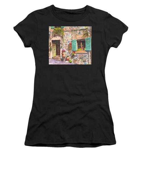 A Townhouse In Majorca Spain Women's T-Shirt (Athletic Fit)