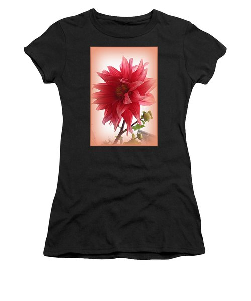 A Vision In  Coral - Dahlia Women's T-Shirt (Athletic Fit)