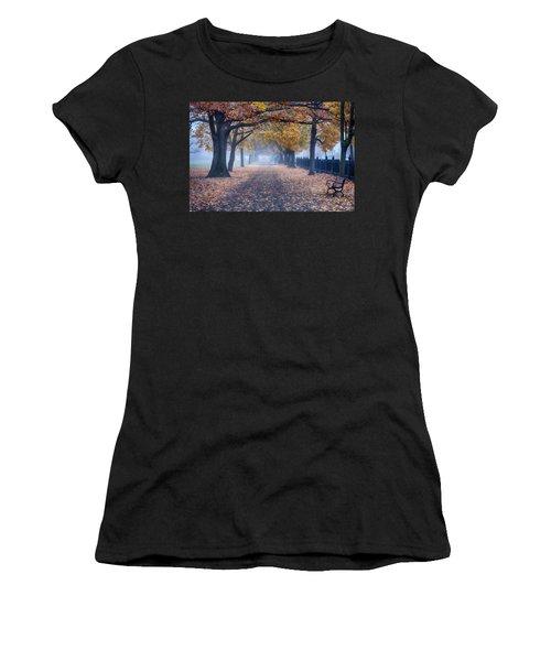 A Walk In Salem Fog Women's T-Shirt