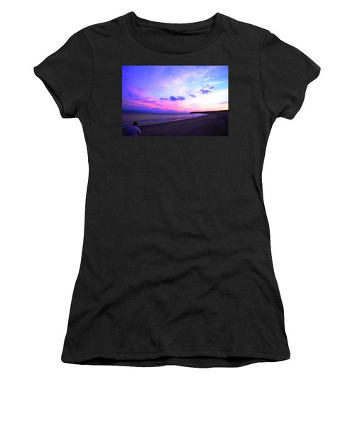 A Walk On The Beach Women's T-Shirt (Athletic Fit)