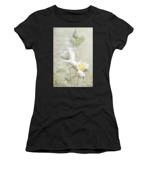 A White Rose Women's T-Shirt (Athletic Fit)